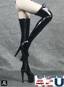 1/6 Women Over The Knee High Heel Boots For Hot Toy PHICEN F
