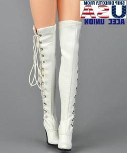 1/6 Women Over The Knee High Heel Boots For Phicen Hot Toys