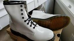 Dr. Marten's Women's 1460 8-Eye White Patent Leather Patent