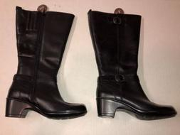 $190 NEW Women's 5.5 CLARKS MALIA POPLAR A BLACK BOOTS EXTEN