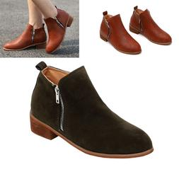 2019 New Women's Booties Casual Shoes Low Heels Up Ankle Boo