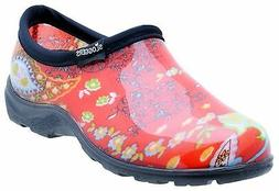 SLOGGERS 5104RD09 SIZE 9 WOMENS GARDEN SHOE PAISLEY RED WATE