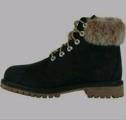 TIMBERLAND 6 inch Waterproof Boots With Fur Trim Sz Womens 8