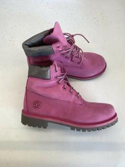 TIMBERLAND 6in Boots Waterproof size Youth 4 Raspberry Pink