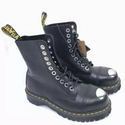Dr. Martens Men's 8761 Steel-Toe Boot Black Fine Haircell 4
