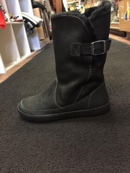 Birkenstock Women's Woodbury Boot Shearling Black 37R -38R -