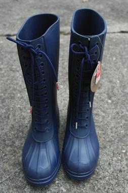NATIVE PADDINGTON UNISEX BOOTS NAVY BLUE WOMEN 7 MEN 5 NWT R