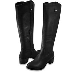 Rampage Womens Italie Riding Boot 11 Black Distressed plta1c
