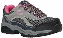 Skechers for Work Women's Doyline Hiker Boot, Gray Pink, 9 M