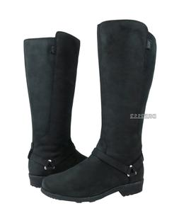 Teva De La Vina Dos Tall Black Delavina Leather Boots Womens