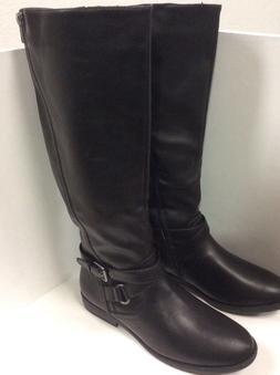 Womens Rampage Illusive knee high fashion boots black zipper