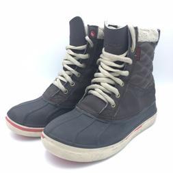 Crocs AllCast Waterproof Duck Boots 16035 Sympatex Dark Brow