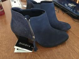 Vionic Ankle Boots Navy Blue Size 10 NWT