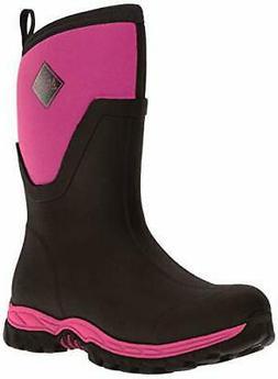 Muck Boot Women's Arctic Sport II Mid Snow, Black/Pink, 8 US