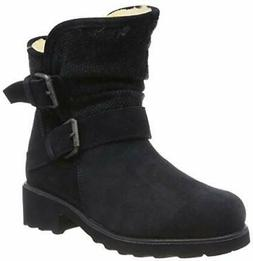 """Bearpaw Avery Boots 8"""" Cow Suede Navy Blue Womens 10 M New B"""