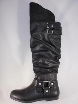 Women's Boots Black Knee High Pull On Dress Casual Riding Bo