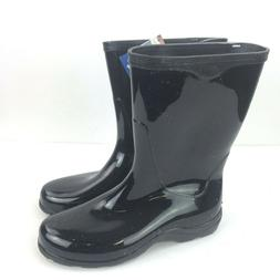 """SLOGGERS Black Rubber 9"""" Rain & Garden Boots Boots Pull On W"""