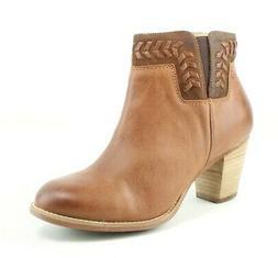 Women's Olukai 'Kamahoi' Block Heel Bootie, Size 5 M - Brown