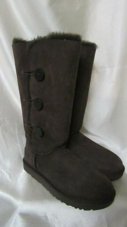 Women's Ugg 'Bailey Button Triplet Ii' Boot, Size 10 M - Bro