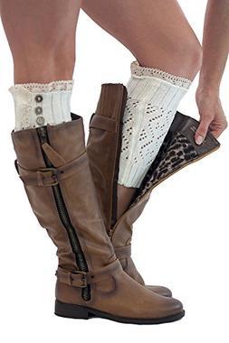 Boot Cuffs Vintage 3 Button Style Women's Boutique Socks Bra