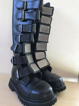 boots punk gothic metal buckles mens size