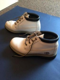 TIMBERLAND BOOTS White   WOMEN'S  23385 8940 Size 6 preown