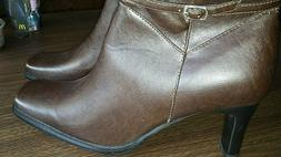 Top Moda Brand  Mid Calf Zip Up  Womens Boots Size 8 1/2 Bro