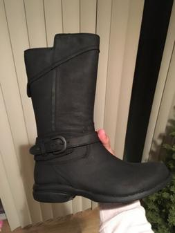 captiva boots black waterproof leather 6
