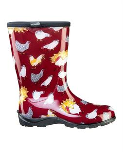 Sloggers Chicken Red Rain and Garden Waterproof Boots