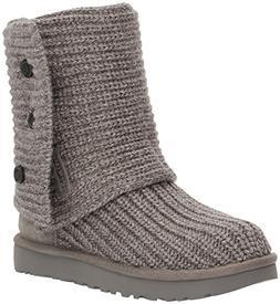Women's Ugg Classic Cardy Ii Knit Boot, Size 8 M - Grey