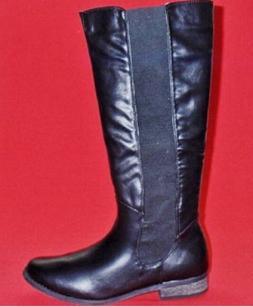 Clearance Women's RAMPAGE SALEM Black Knee High Casual Ridin