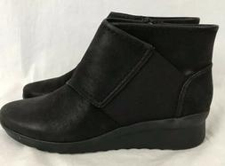 Clarks Cloud Stepper Caddell Rush Womens Sz 6.5 M Black Ankl