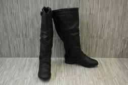 Top Moda Coco-1 Faux Leather Riding Boots, Women's Size 5.5,