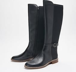 Clarks Collection Wide Calf Leather Boots Camzin Tree Black