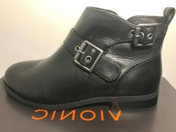 VIONIC Country Logan Ankle Boots Womens 6 M Black Leather Zi