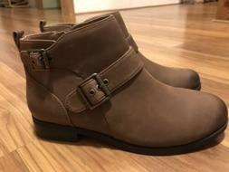 Vionic Country Logan Dark Brown Bootie Ankle Boots Womens 9