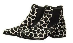 Tibi Dakota Black and White Booties Womens Ankle Boots Size