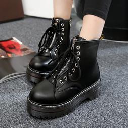 Dark Gothic Women Winter PU <font><b>Boots</b></font> Suede