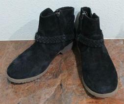 Teva 'DE LA VINA' #1008601 Waterproof Black Suede Ankle Boot