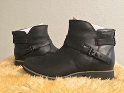 Teva De La Vina Ankle Black Leather Boots 1008009 Casual Che