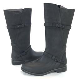 Teva De La Vina Tall Black Leather Boots Womens Size 9 M Wat