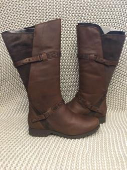 Teva Delavina Tall Brown Delavina Leather Boots Womens Size