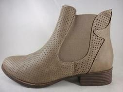 Rampage Deputy Women's Perforated Pull On Casual Ankle Boots