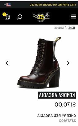 Doc Martens Kendra Women Ankle Boots U.S. 7 Cherry Red Heel