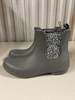 Crocs Dual Comfort Womens Gray Mid Rain Boots Size 10