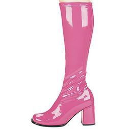 "Ellie Shoes E-Gogo, 3"" Gogo Boots with Zipper. 8 Fuchsia"