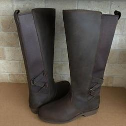 TEVA ELLERY BISON WATERPROOF LEATHER TALL EQUESTRIAN BOOTS S