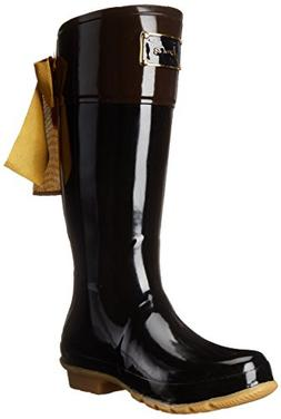 Joules Women's Evedon Rain Boot, Black, 8 M US