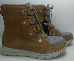 Sorel Explorer Joan Waterproof Winter Boots, Camel Brown, Wo