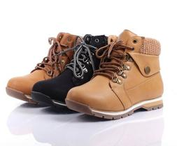 Fashion Light weight Adjustable Military Lace Up Wedge Ankle
